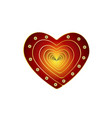 a heart of red design elements for valentine s vector image