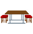 a table and chair vector image