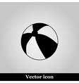 Beach ball line icon vector image