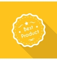 Best product label vector image vector image