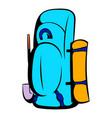 blue cartoon icon icon cartoon vector image vector image