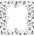 cassia fistula - golden shower flower on white vector image vector image