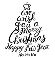 Christmas and New Year lettering calligraphic vector image vector image