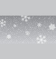 christmas snow falling snowflakes on transparent vector image vector image
