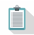 Clipboard with check list icon flat style vector image vector image