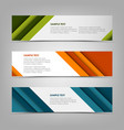 collection banners with abstract design stripes vector image vector image