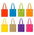colored bags templates set of promotional gifts vector image