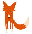 cute cartoon red fox animal character vector image vector image