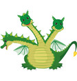 cute three headed dragon vector image vector image