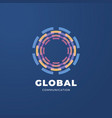 Digital global communication logo template
