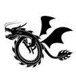 dragon silhouette vector image vector image