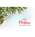 festive christmas template vector image vector image