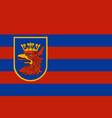 flag of szczecin in west pomeranian voivodeship vector image vector image