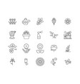 flower shop line icons signs set outline vector image vector image