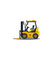 forklift isolated on white background vector image vector image