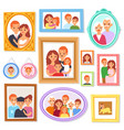 frame framing picture or family photo on vector image