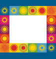 frame with different sun icons vector image