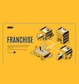 franchise business start isometric website vector image vector image