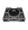 game console monochrome isolated object vector image vector image