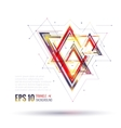 Geometric polygonal elements Scientific future vector image