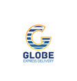 global express delivery letter g icon vector image vector image