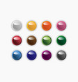 group of round buttons of different colors vector image