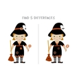 Halloween find differences game for kids vector image vector image