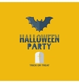 halloween party flat design background vector image vector image
