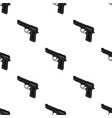 handgun icon in black style isolated on white vector image vector image