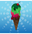 ice cream scoop vector image