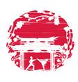 karate occupations - grunge background vector image