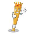 king baseball bat character cartoon vector image