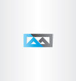 logo m letter m blue black icon vector image vector image