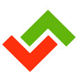logo template with green and red arrows up and vector image vector image
