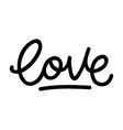love retro lettering vector image