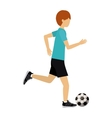 male athlete practicing football soccer isolated vector image vector image