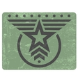 Military style grunge emblem vector image vector image