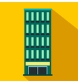 Modern building flat icon vector image vector image