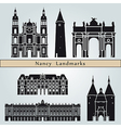 Nancy landmarks and monuments vector image vector image