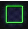 neon light square banner neon light frame vector image vector image