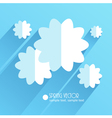 paper flowers 3 vector image vector image