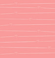 pink pattern background with small hearts vector image vector image