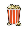 popcorn snack icon image vector image