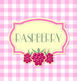 Raspberry label vector image