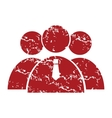 Red grunge leader of the team logo vector image
