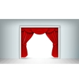 red silk curtains vector image vector image