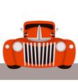 red vintage car vector image vector image