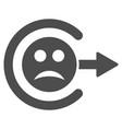 sad logout flat icon vector image