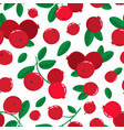 seamless pattern with cartoon cranberries vector image vector image