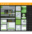 Set of flat design UI elements for website and vector image vector image